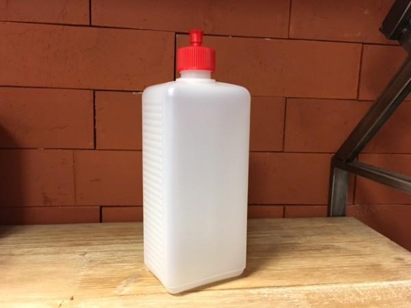 Dosierflasche eckig PE 500 ml